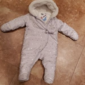 Sergent major snow suit grey 9 months NWT